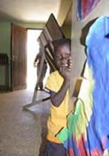 A girl at the Tumaini Timbwani School